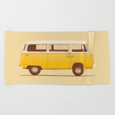 Yellow Van Beach Towel