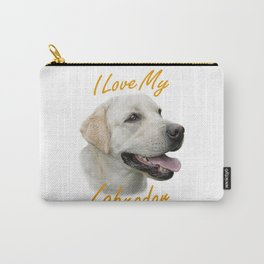 I Love My Labrador Carry-All Pouch