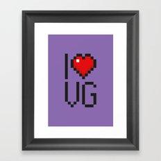 PAUSE – I Love Video Games Framed Art Print