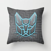transformers Throw Pillows featuring Autocats Transformers by Enrique Valles