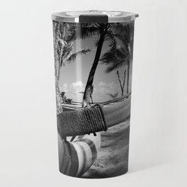 Kuau Palm Trees Hawaiian Outrigger Canoe Paia Maui Hawaii Travel Mug