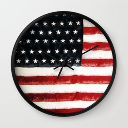 USA Flag ~ American Flag ~ Ginkelmier Inspired Wall Clock