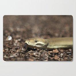 Olive Python tasting you! - snake Cutting Board