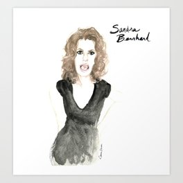 Sandra portrait Art Print