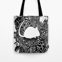 rat Tote Bags featuring Rat by Mindy Robinson
