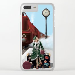 Don't miss the tain of your life Clear iPhone Case