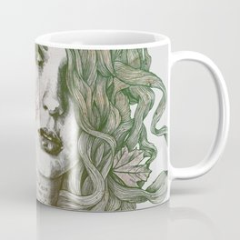Wake: Autumn (street art woman with maple leaves tattoo) Coffee Mug