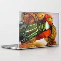 metroid Laptop & iPad Skins featuring Metroid by JeyJey Artworks