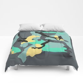 An Intuitive Composition about a Cloudy Day in Early Spring Comforters