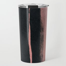 Rose Gold Cement Abstract Travel Mug