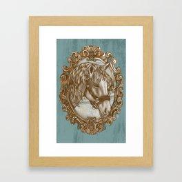 Ornate Horse Portrait Framed Art Print