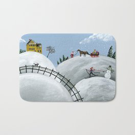 Hilly Holiday Bath Mat