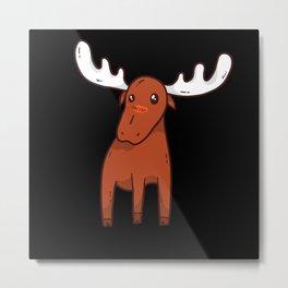 Elk Cute Metal Print