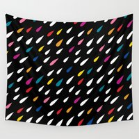 eames Wall Tapestries featuring Bright Droplets by Anna Dorfman