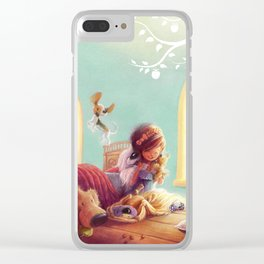 Snow White and the Seven Doggies Clear iPhone Case