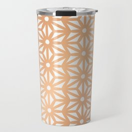 Asanoha Pattern - Rose Gold Travel Mug