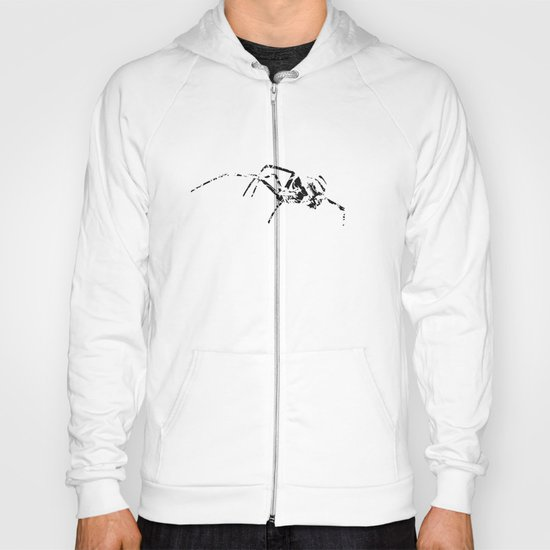 Black Widow Scribble Hoody