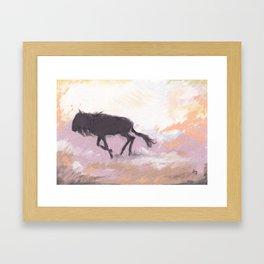 Gnu Framed Art Print