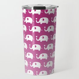 Elephants in Love (Pink) Travel Mug