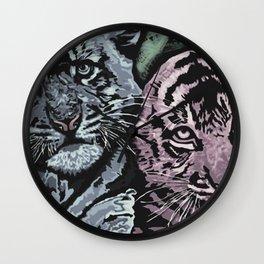 Tiger Cubs Wall Clock