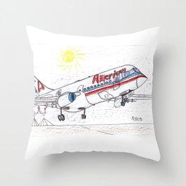 Sunny Landing Throw Pillow