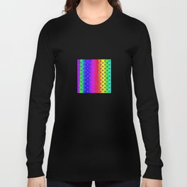 Rainbow and purple flowers Long Sleeve T-shirt