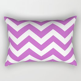 Fuchsia (Crayola) - violet color - Zigzag Chevron Pattern Rectangular Pillow