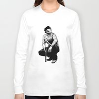 rick grimes Long Sleeve T-shirts featuring Rick Grimes by Naomi Bell