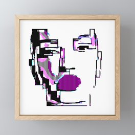 Android Pixelated Framed Mini Art Print