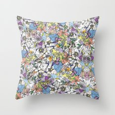 eastern flowers Throw Pillow