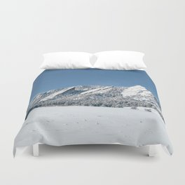 Snowy Flatirons Duvet Cover