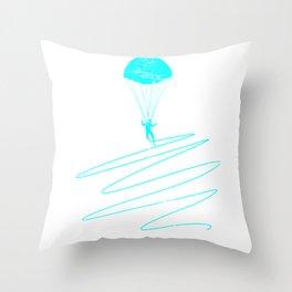 Paragliding Sportsman Parachute Throw Pillow