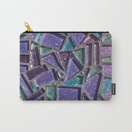 Sparkly Purple Mosaic  Carry-All Pouch