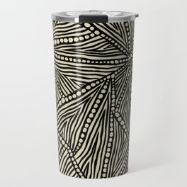 Black and Ivory Triangles Travel Mug