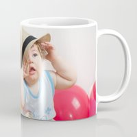 mad hatter Mugs featuring Little mad hatter by Sandra Angelini