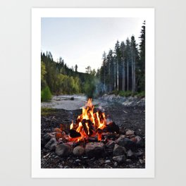 Campfire Time Art Print