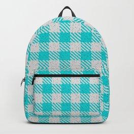Dark Turquoise Buffalo Plaid Backpack