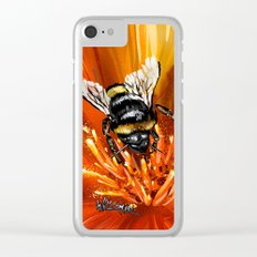 Bee on flower 1 Clear iPhone Case