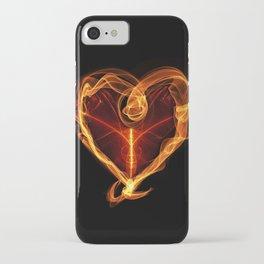 Burning Love Heart iPhone Case