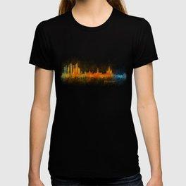 Moscow City Skyline art HQ v3 T-shirt