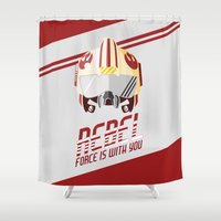 rebel Shower Curtains featuring Rebel by Tony Vazquez