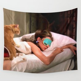 Audrey Hepburn #4 @ Breakfast at Tiffany's Wall Tapestry