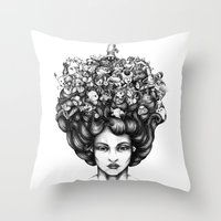 video game Throw Pillows featuring Video Game by LullaBy D