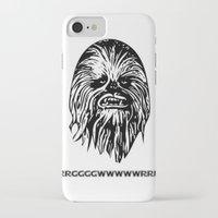 chewbacca iPhone & iPod Cases featuring Chewbacca by C Liza B