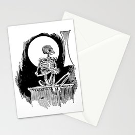 Skeleton waiting Stationery Cards