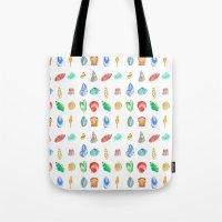 shells Tote Bags featuring Shells by Louise Kjeldsen