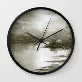 A Splash of Sepia Wall Clock