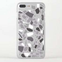 Terrazzo Spot Black 2 Clear iPhone Case