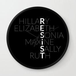 #RESIST: THE WOMEN OF 2017 Wall Clock