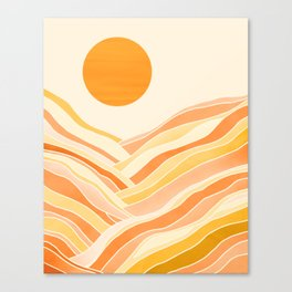 Golden Mountain Sunset Canvas Print